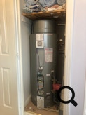 Gledhill Boilermate 2 in a typical first floor airing cupboard installation.